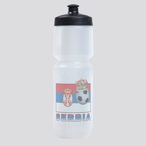 Serbia Football Sports Bottle