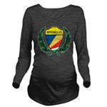 Stylized Seychelles Long Sleeve Maternity T-Shirt