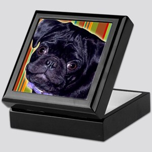 Black Pug Keepsake Box