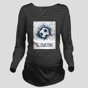 Slovenia Football Long Sleeve Maternity T-Shirt