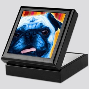 Striped Pug Keepsake Box