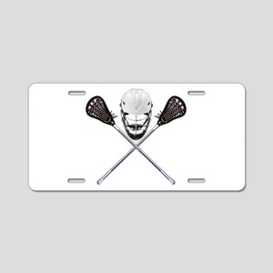 Lacrosse Pirate Aluminum License Plate
