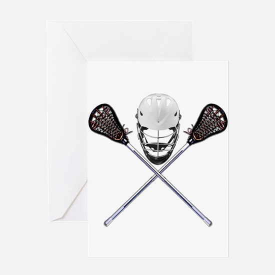 Lacrosse Pirate Greeting Cards