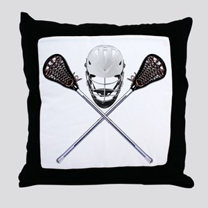 Lacrosse Pirate Throw Pillow