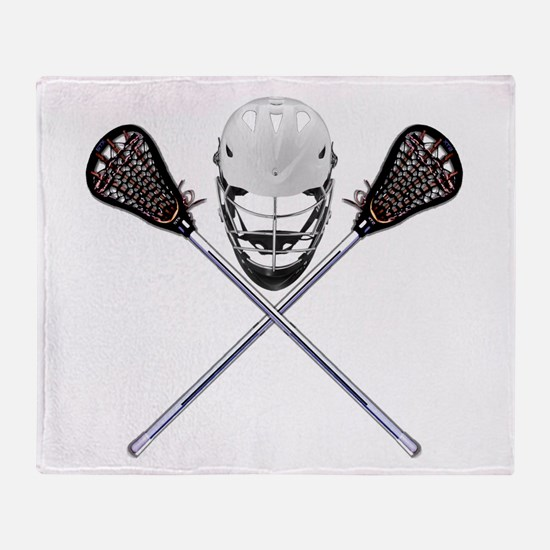 Lacrosse Pirate Throw Blanket