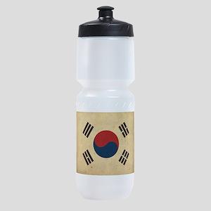 Vintage South Korea Flag Sports Bottle