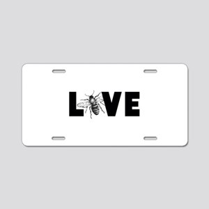 Honeybee Love Aluminum License Plate