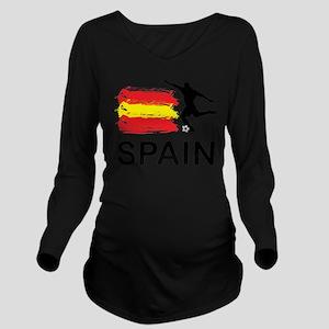 Spain Football Long Sleeve Maternity T-Shirt