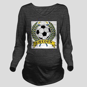 Soccer Sweden Long Sleeve Maternity T-Shirt