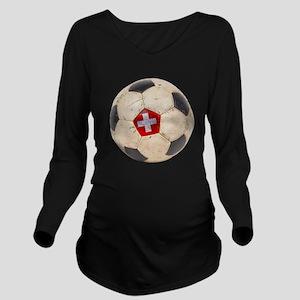 Switzerland Football Long Sleeve Maternity T-Shirt