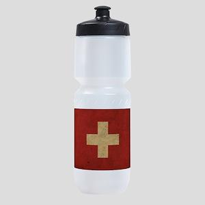 Vintage Switzerland Flag Sports Bottle