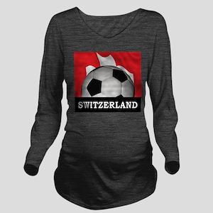 Switzerland Long Sleeve Maternity T-Shirt