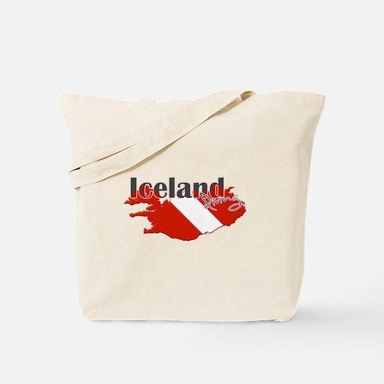 Iceland Diver Tote Bag
