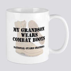 National Guard Grandma Grandson wears DCB Mugs