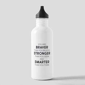 Braver Stronger Smarte Stainless Water Bottle 1.0L