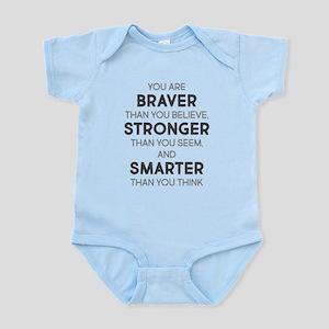 Braver Stronger Smarter Baby Light Bodysuit