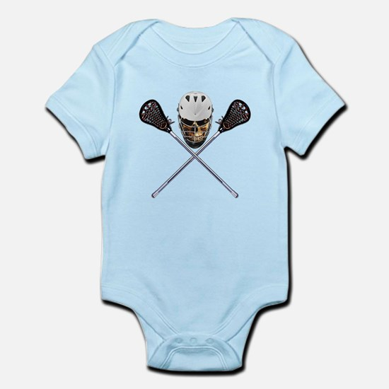 Lacrosse Pirate Skull Infant Bodysuit