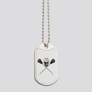 Lacrosse Pirate Skull Dog Tags