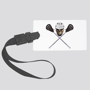 Lacrosse Pirate Skull Large Luggage Tag