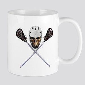 Lacrosse Pirate Skull Mug
