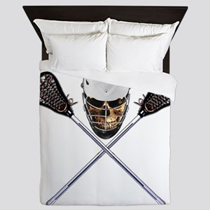 Lacrosse Pirate Skull Queen Duvet