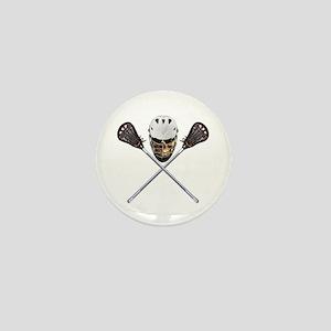 Lacrosse Pirate Skull Mini Button