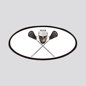 Lacrosse Pirate Skull Patches