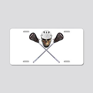 Lacrosse Pirate Skull Aluminum License Plate