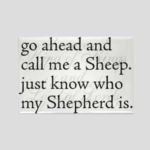 Sheep Shepherd King of Kings Rectangle Magnet