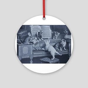 Kitty Tunes Ornament (Round)