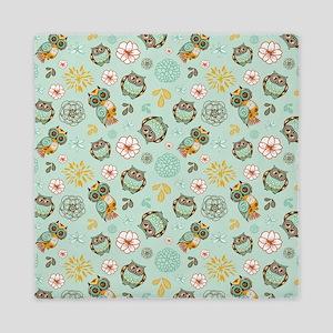 Whimsical Owl Pattern Queen Duvet