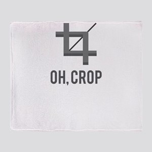 Oh, Crop Throw Blanket