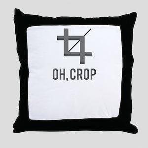 Oh, Crop Throw Pillow