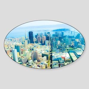 Urban Dimensions SF Sticker (Oval)