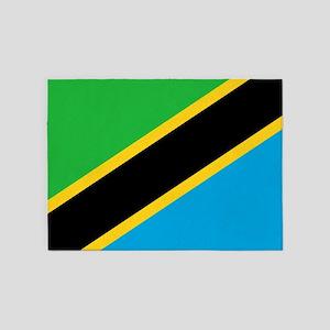 Flag of Tanzania 5'x7'Area Rug