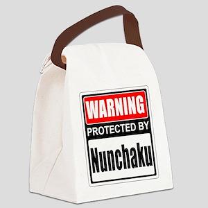 Warning Nunchaku! Canvas Lunch Bag