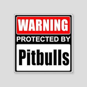 Warning Pitbulls Sticker