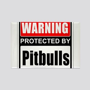 Warning Pitbulls Magnets