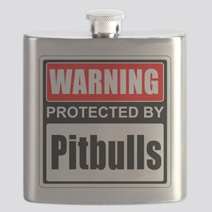 Warning Pitbulls Flask