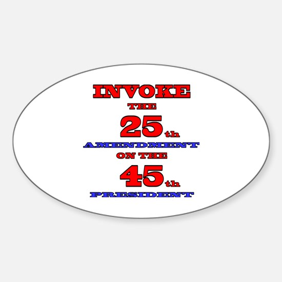 Cute President united states Sticker (Oval)
