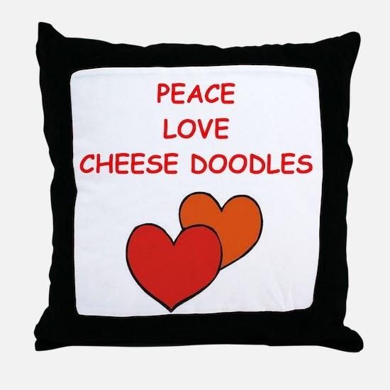 cheese doodle Throw Pillow