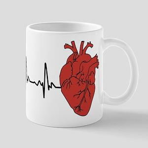 Heart Cardiograph 11 oz Ceramic Mug