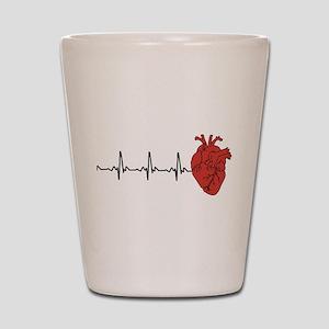 Heart Cardiograph Shot Glass