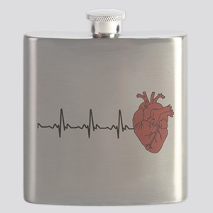 Heart Cardiograph Flask