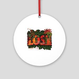 Lost Jungle Grunge Round Ornament