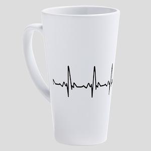 Heart Cardiograph 17 oz Latte Mug