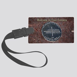 Welcome to Four Corners Monument Large Luggage Tag
