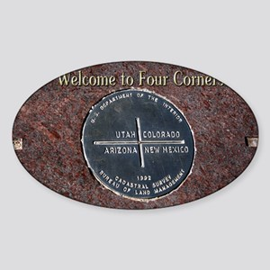 Welcome to Four Corners Monument US Sticker (Oval)