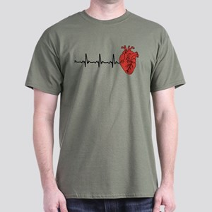 Heart Cardiograph Dark T-Shirt