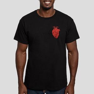 Heart Cardiograph Men's Fitted T-Shirt (dark)